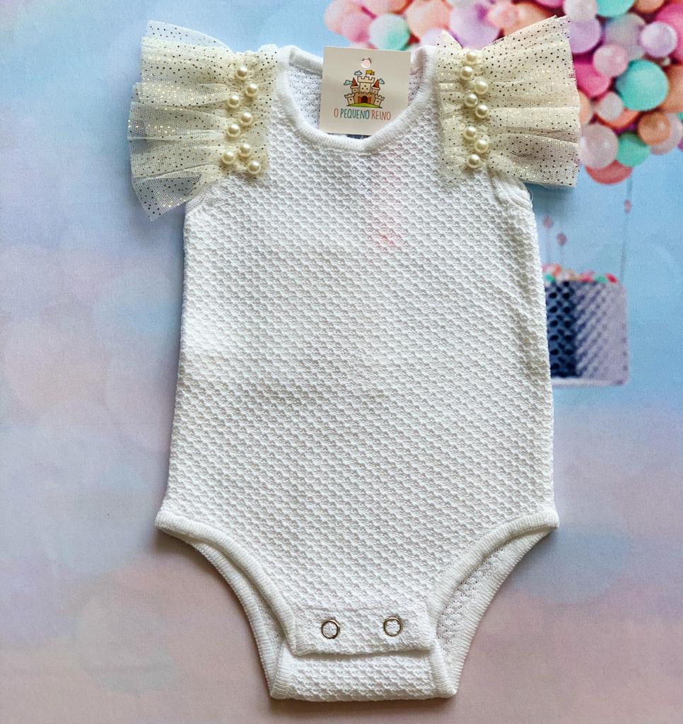 Body bebê tricot Dulce branco