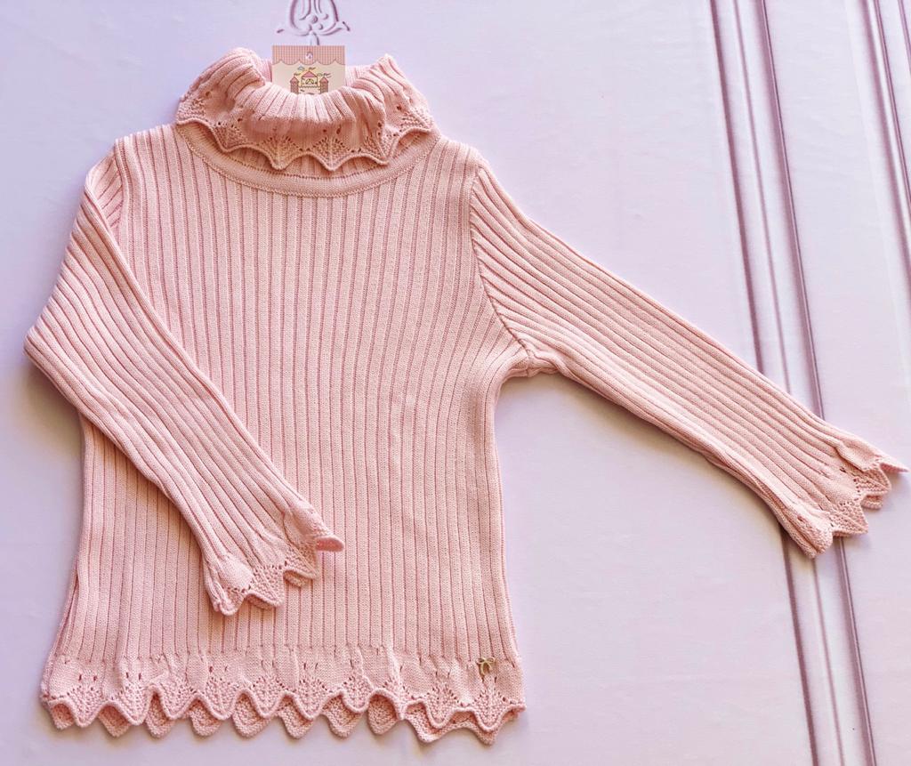 Cacharrel Maria tricot rosa bebê