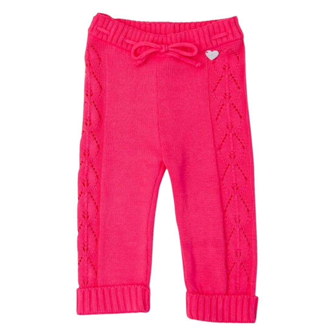Calça Mary tricot bebê pink
