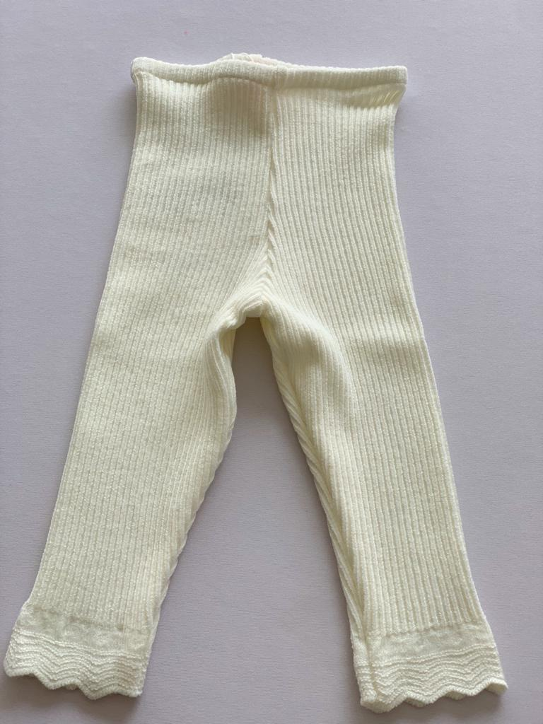 Calça tricot Ana baby off white