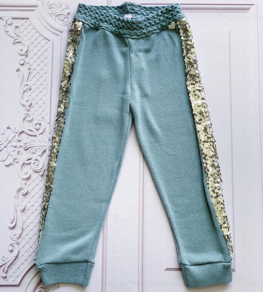 Calça tricot Maura azul