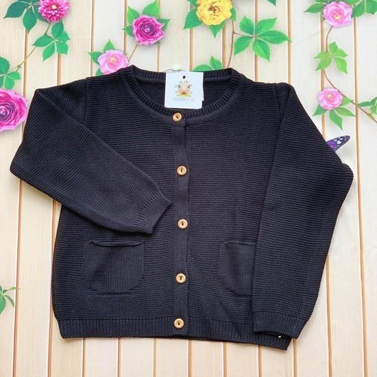 Cardigan Licia tricot Preto infantil