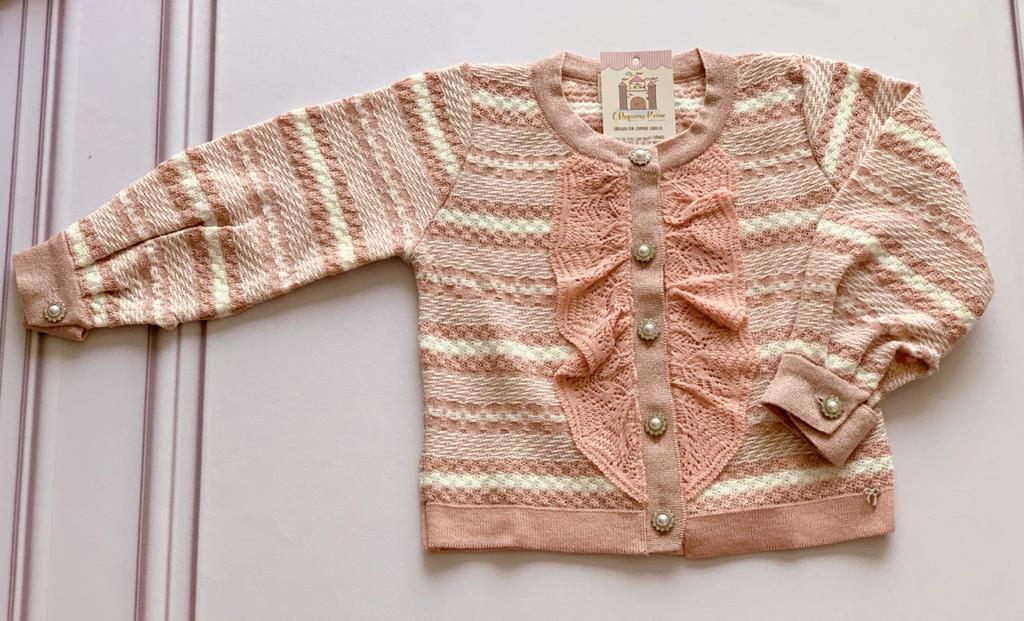 Casaco Elisangela tricot rosa