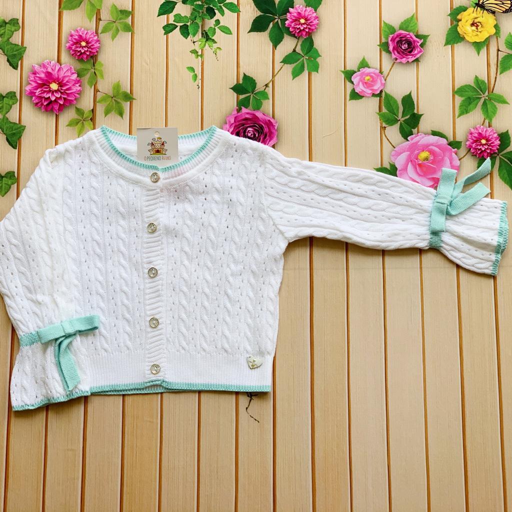 Casaco tricot Eva (Cinza e Branco)