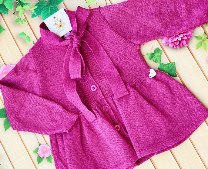 Casaco tricô Melody (Pink, Preto, Dourado)