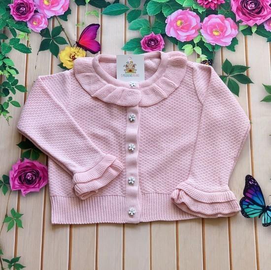 Casaco tricô Olivia (Rosa e Azul)