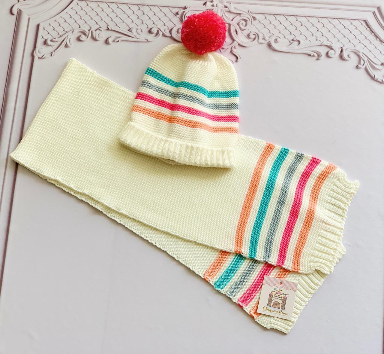 Kit Lara tricot( Gorro e Cachecol)