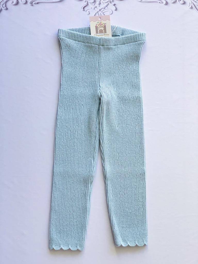 Legging Ana tricot infantil azul