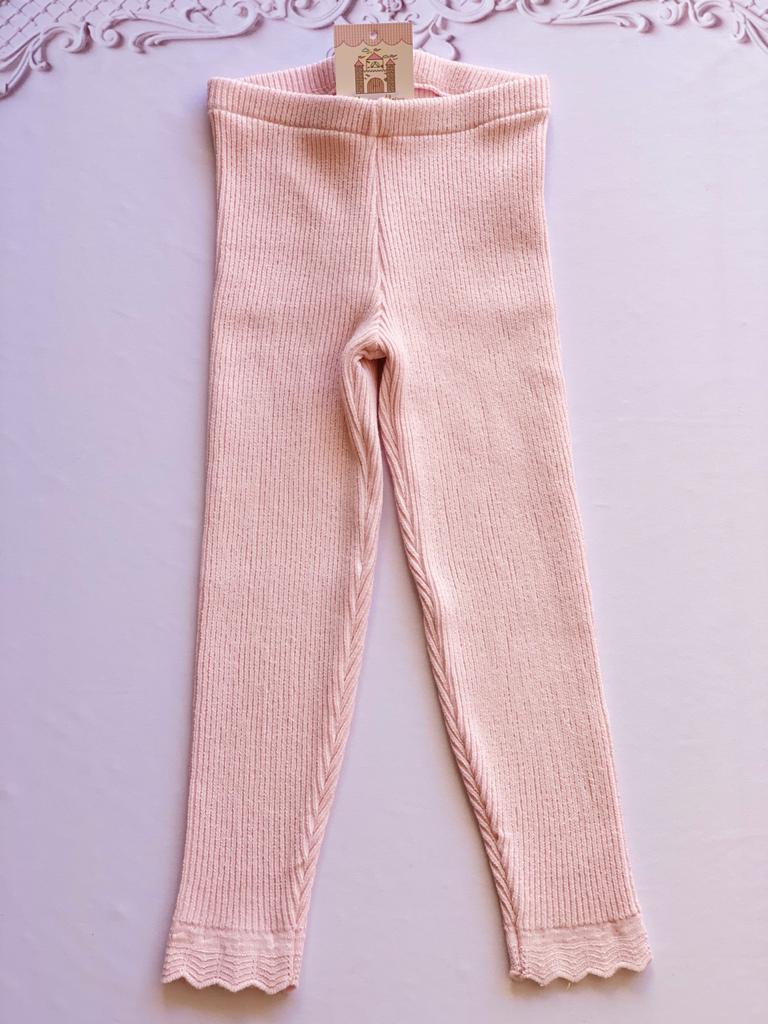 Legging Ana tricot rosa