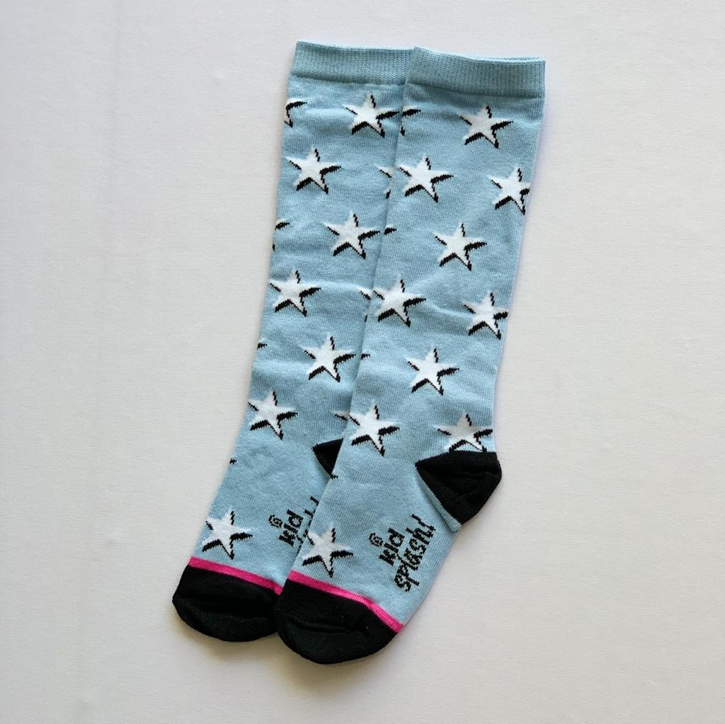 Meia 3/4 Estrelas Azul