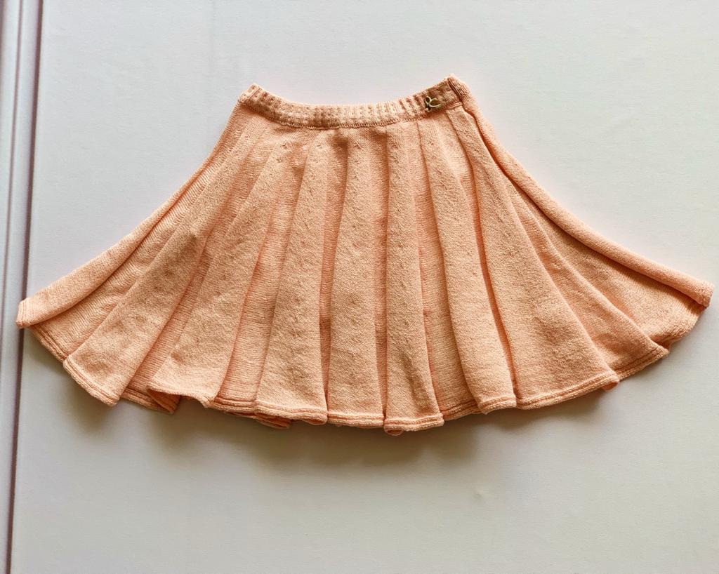 Saia Simone tricot rosa