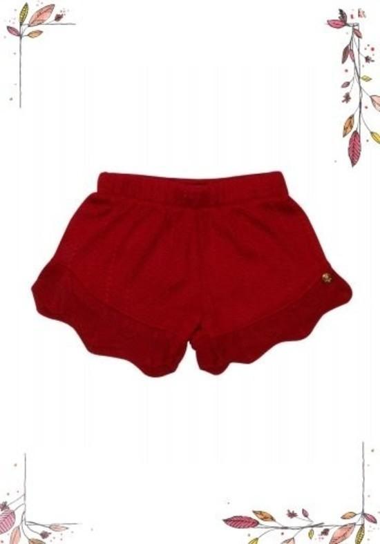 Shorts Tricot Violeta Vermelho