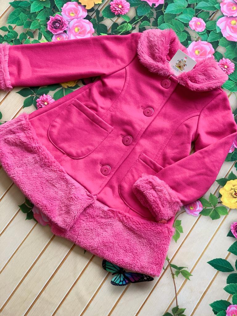 Sobretudo Pelinhos Winter Pink