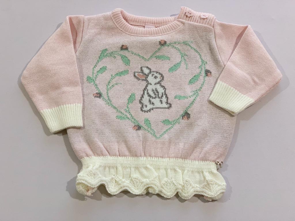 Sweater Dani tricot rosa
