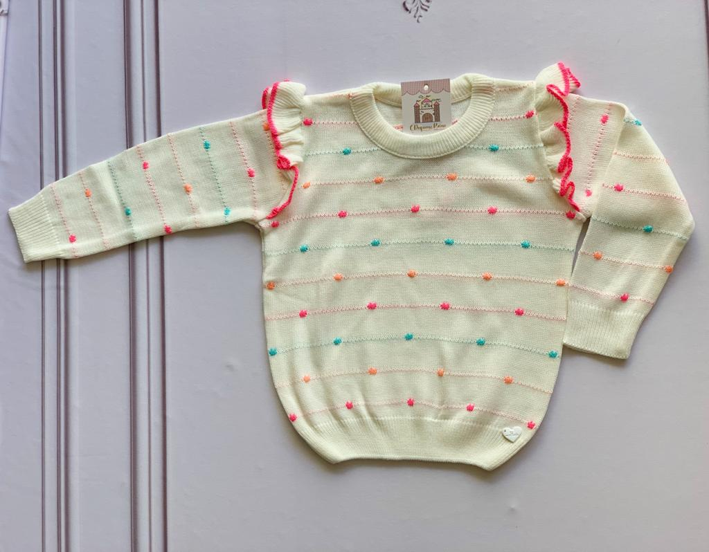 Sweater Marcela tricot kids Off White