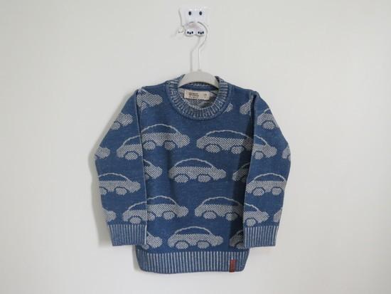 Sweater Tricot Infantil Carros