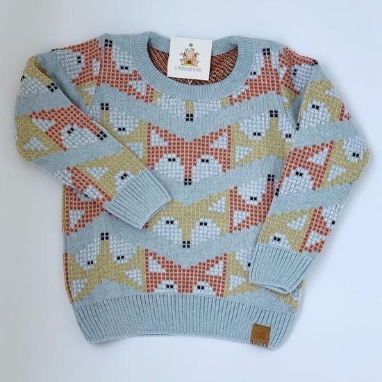 Sweater Tricot Infantil Fox