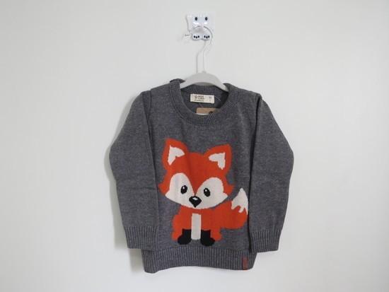Sweater Tricot Infantil Raposinha