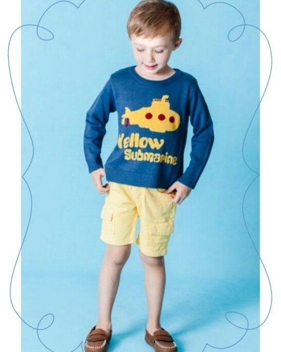 Sweater Tricot Infantil Yellow Submarine
