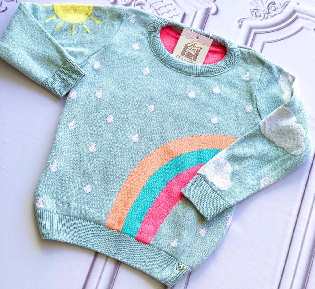 Sweater tricot Paola azul