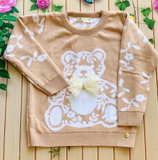 Sweater Tricot Urso Teddy