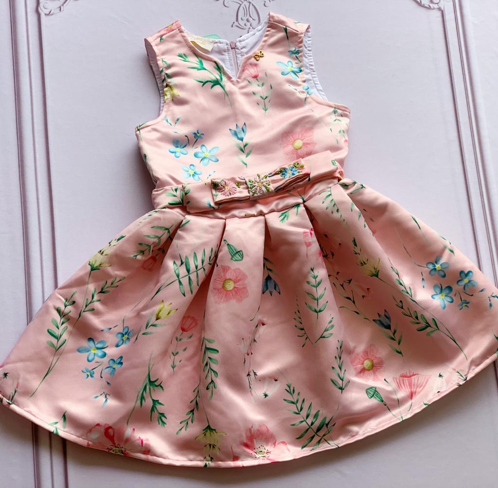 Vestido Flores do Campo rosa