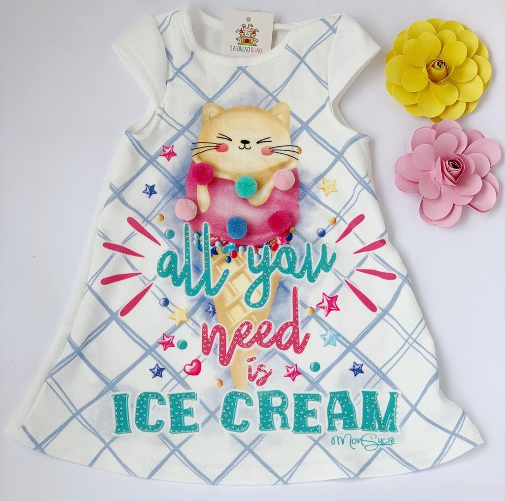 Vestido Infantil Ice Cream