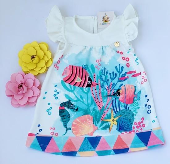 Vestido Infantil Peixinhos
