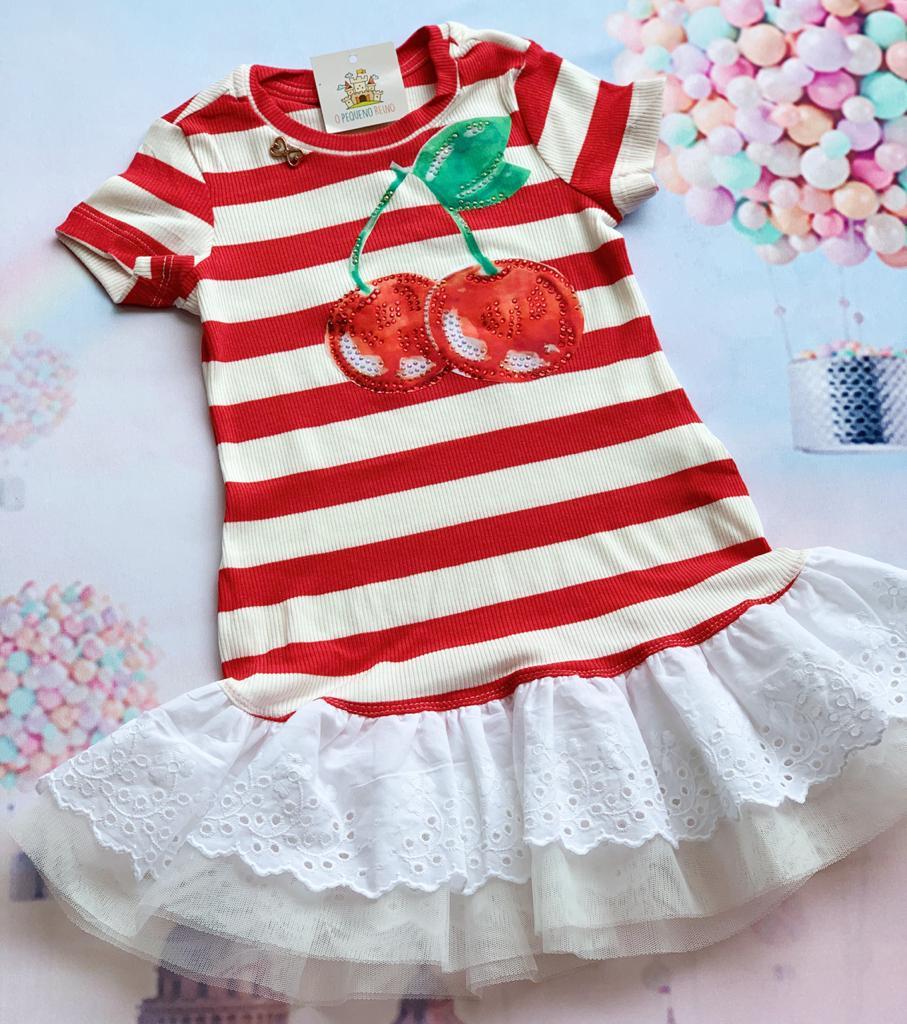 Vestido Listrado Cherry