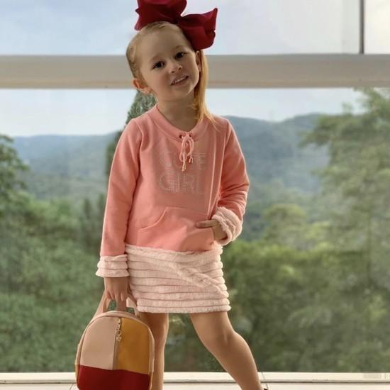 Vestido Moletom Cute Girl