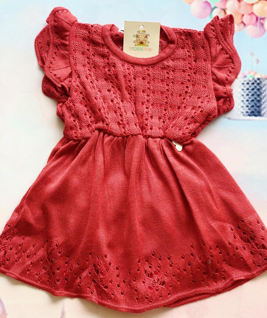 Vestido Tricot Baby  Joana Vermelho