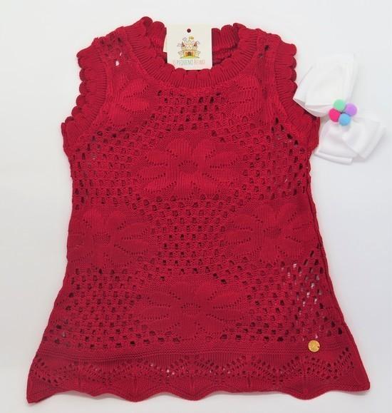 Vestido Tricot Bromelia Vermelho