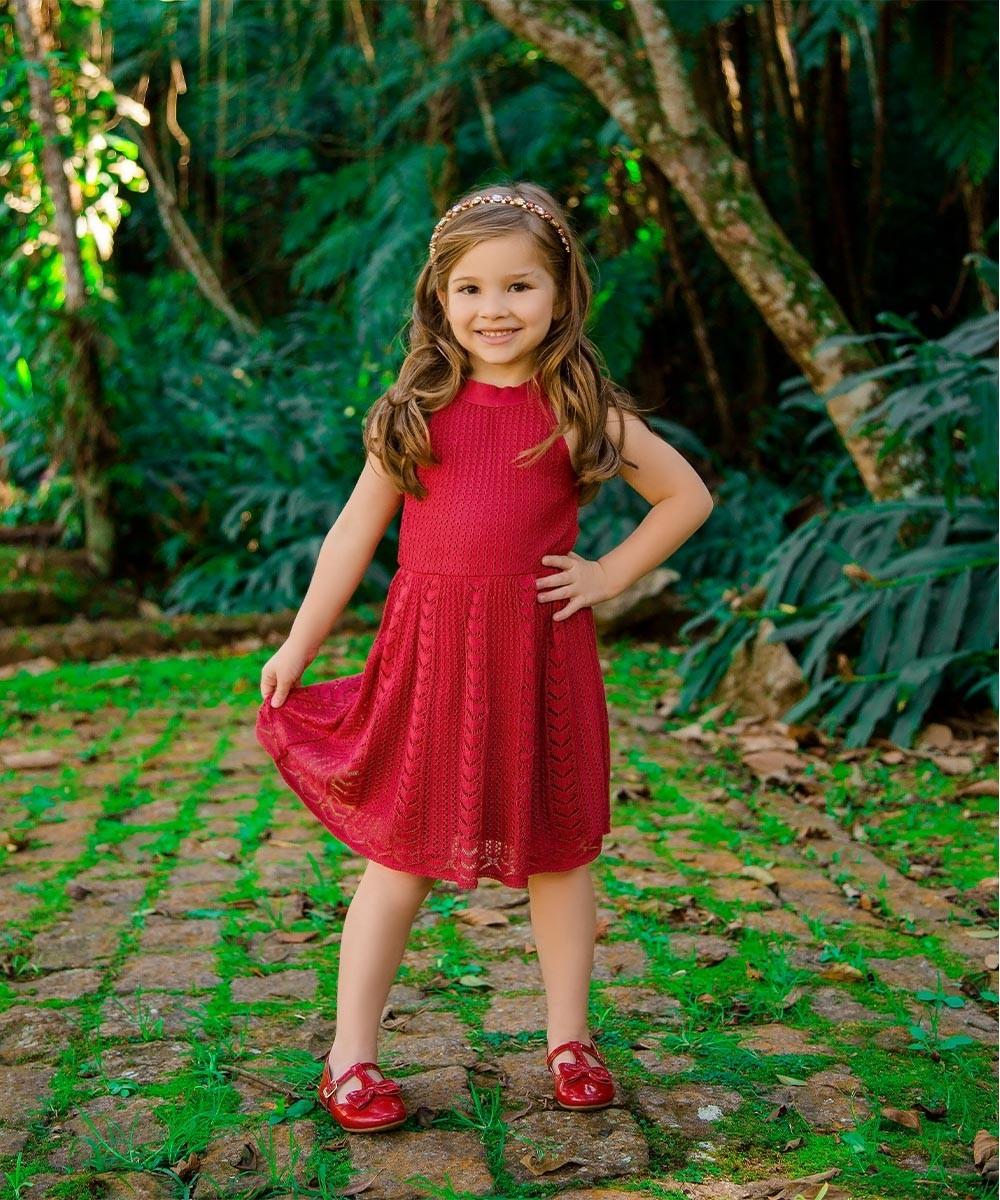 Vestido Tricot  Lucia Vermelho