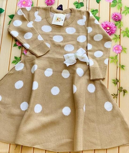Vestido Tricot Poá
