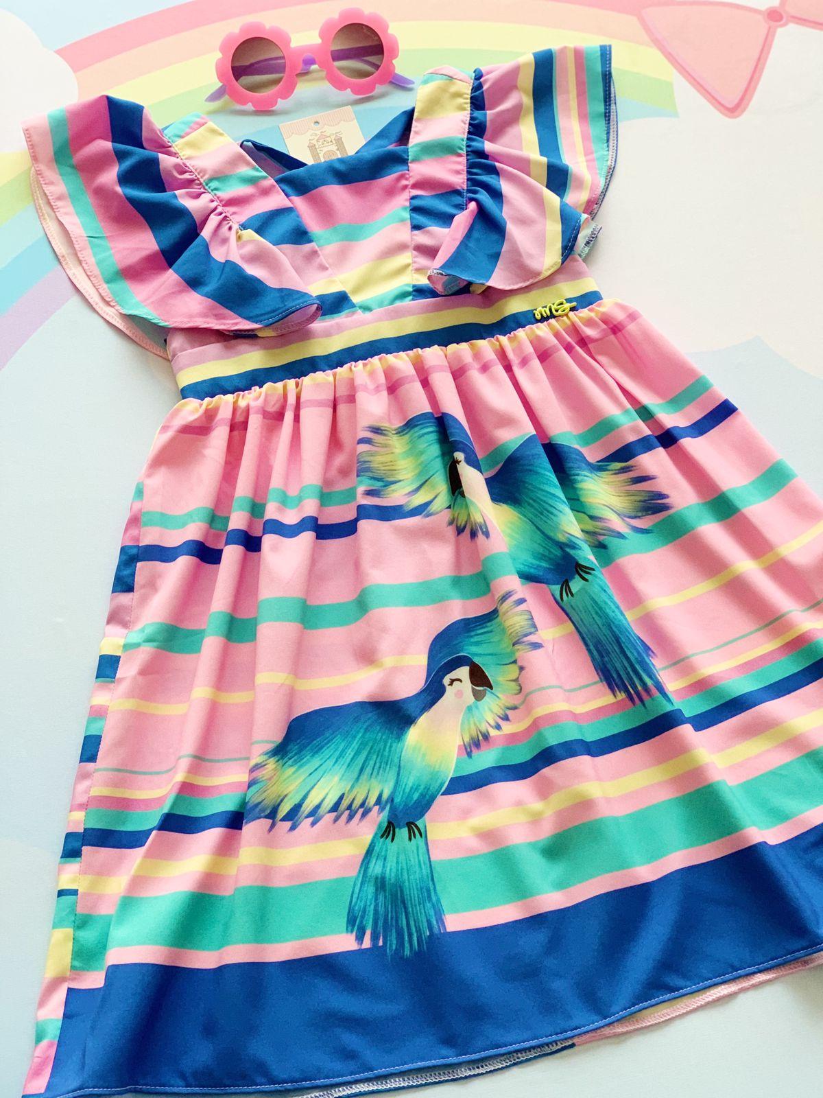 Vestido Tropical Birds Mon Sucré