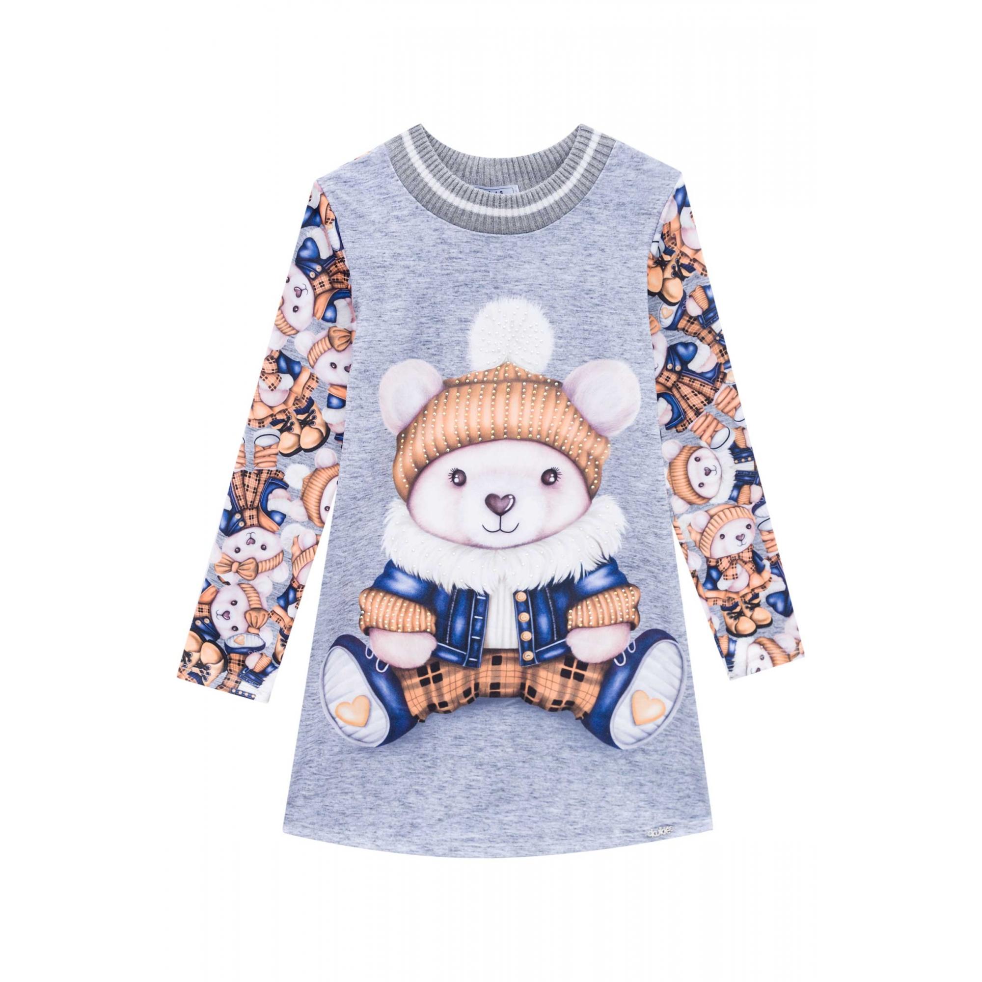 Vestido Urso Polar laranja