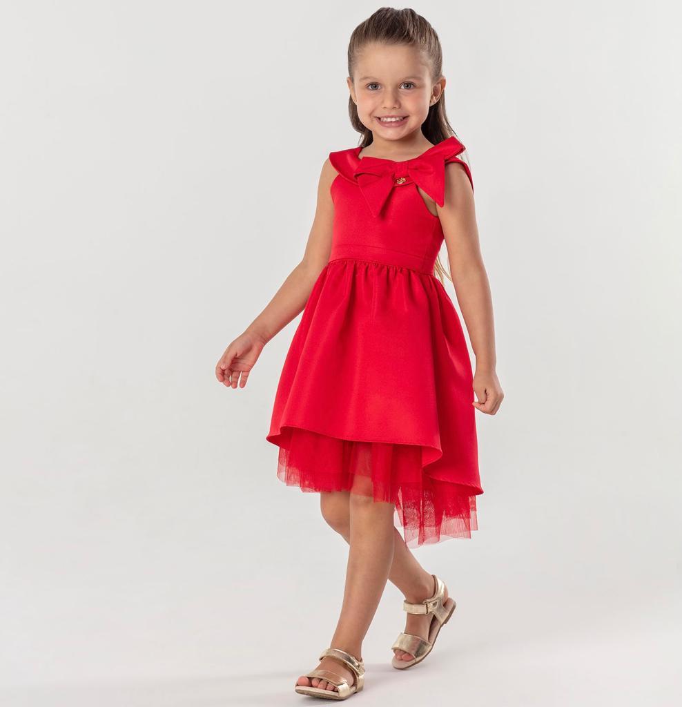 Vestido Vermelho laço