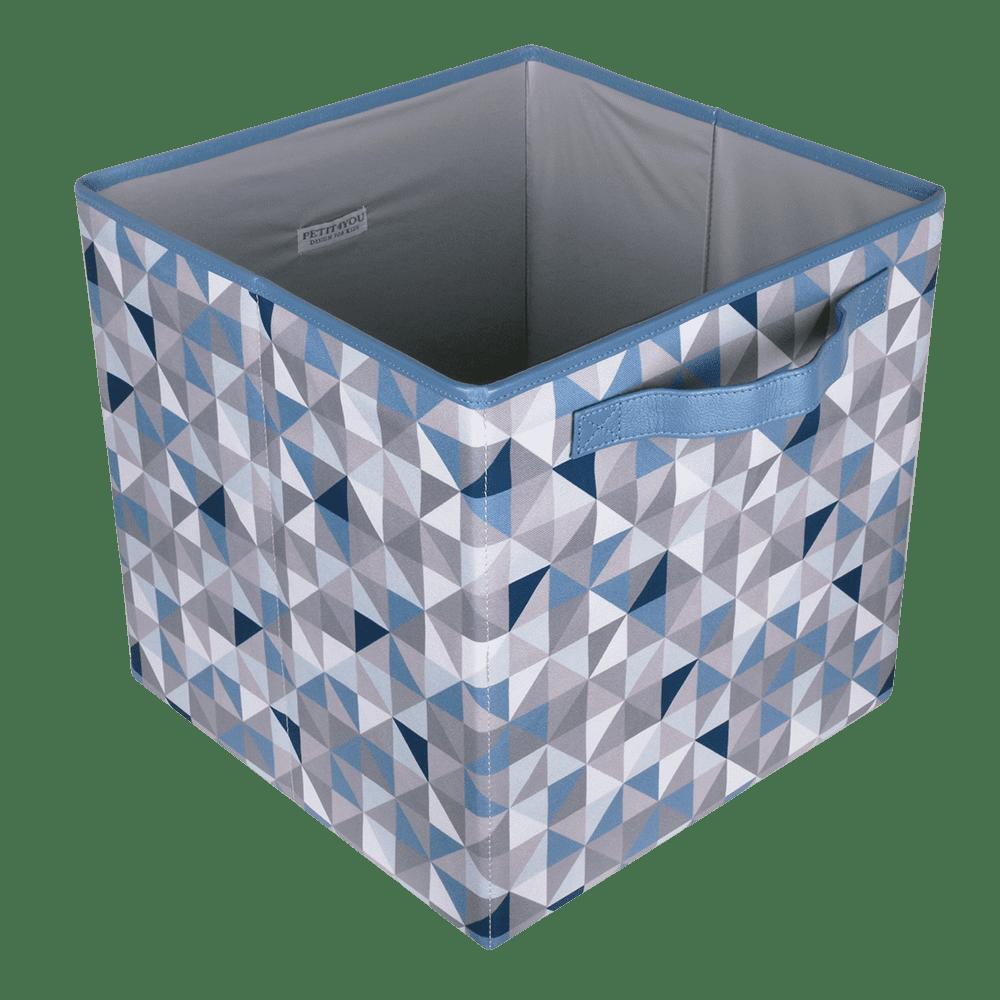 Caixa dobrável geometric azul