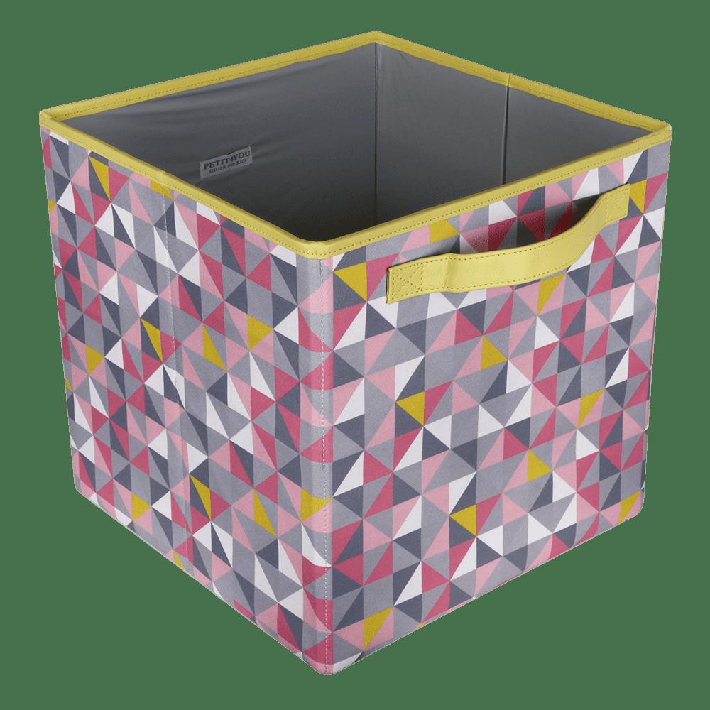 Caixa dobrável geometric rosa