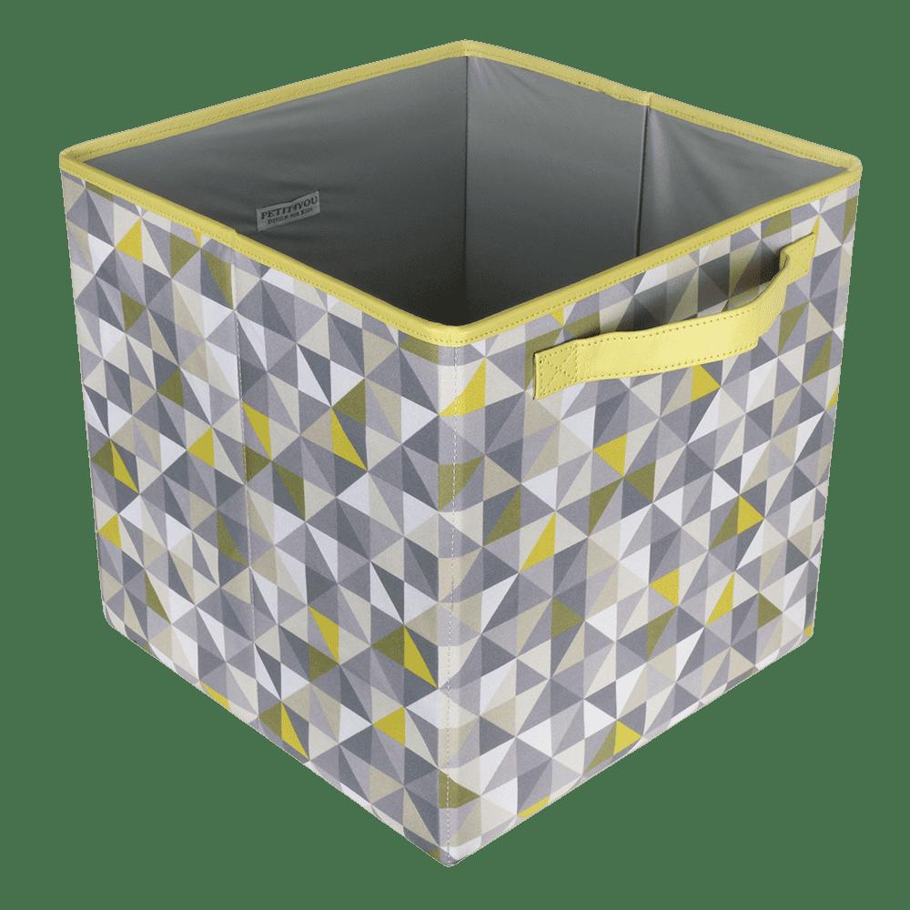 Caixa dobrável geometric verde