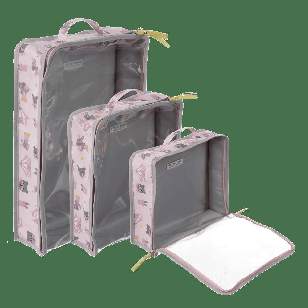 kit organizador para mala circus rosa