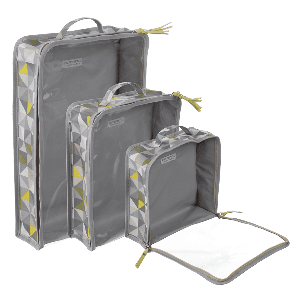 Kit Organizador Para Mala Geometric Verde