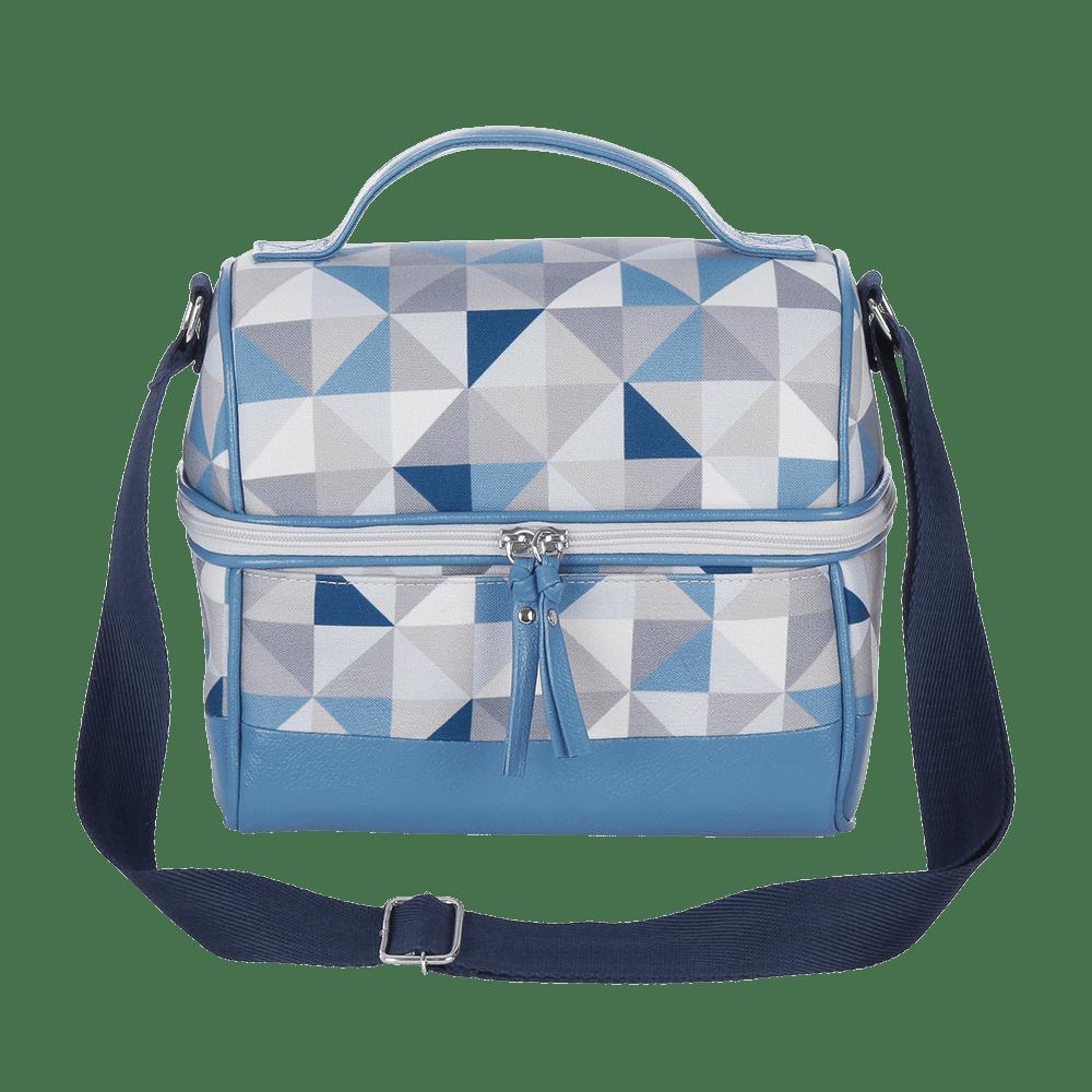 Lancheira Geometric Azul