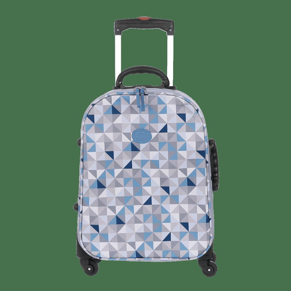 Mala De Rodinha Geometric Azul