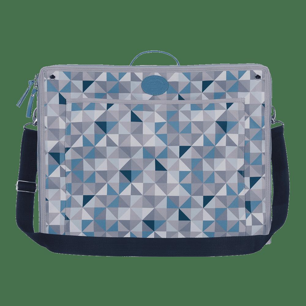 Mala Dobrável Geometric Azul