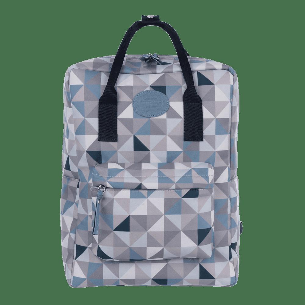 mochila geometric azul