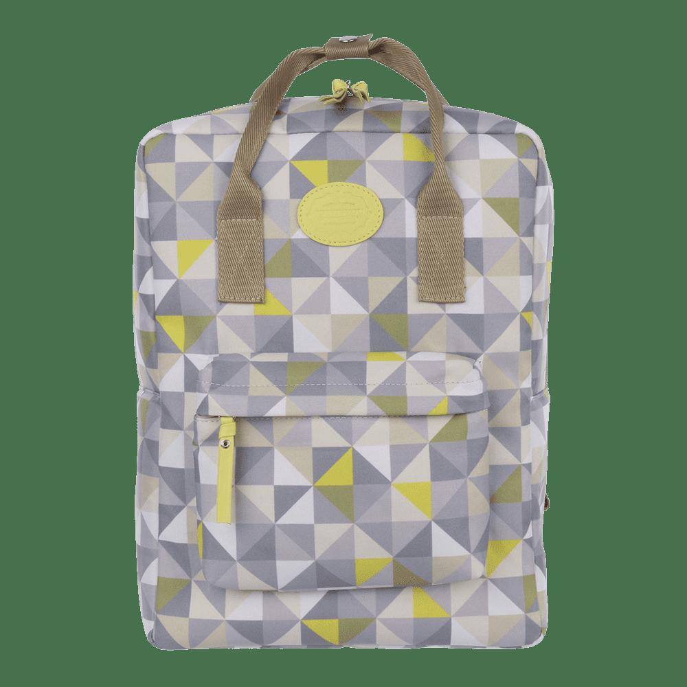 mochila geometric verde