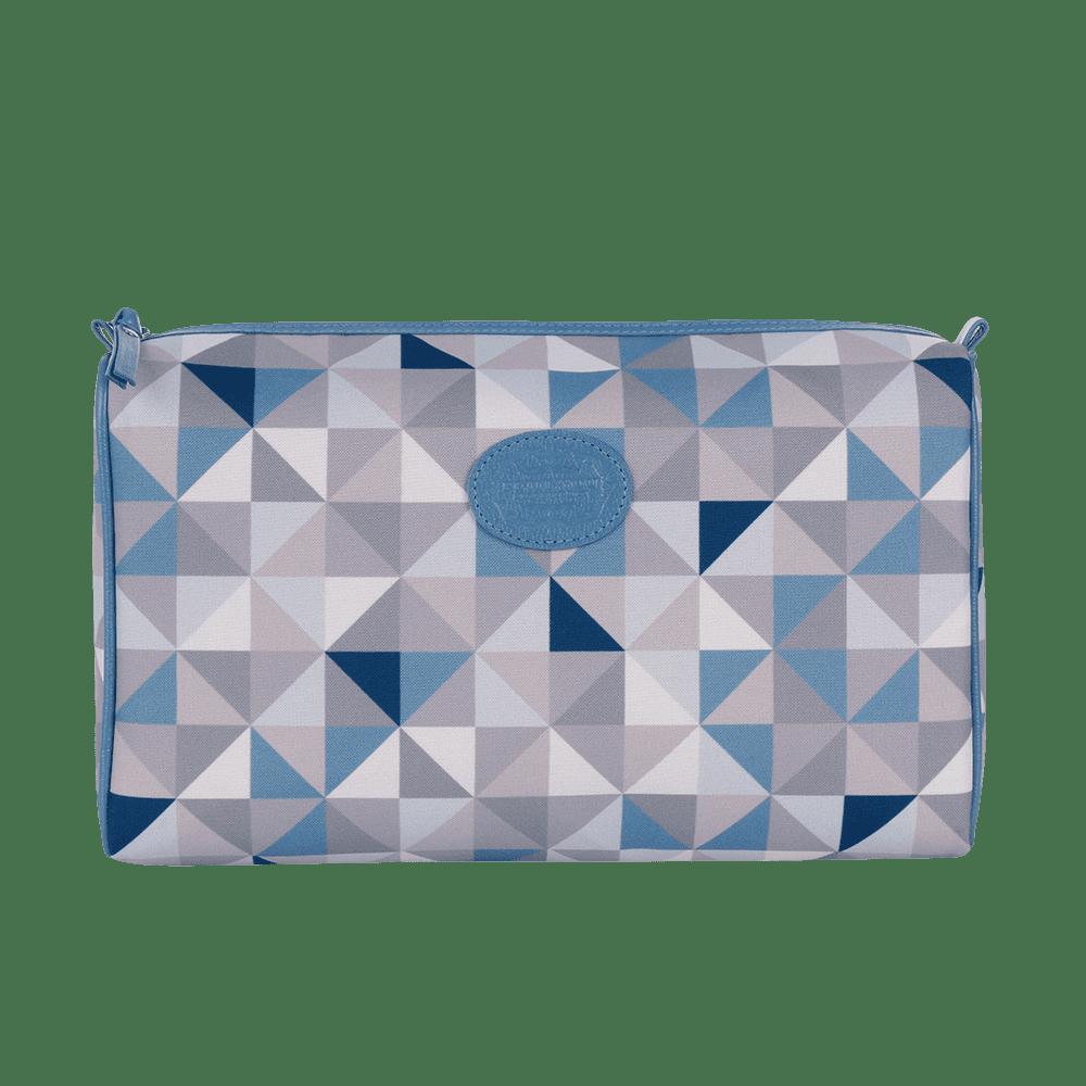 Necessaire Básica Geometric Azul