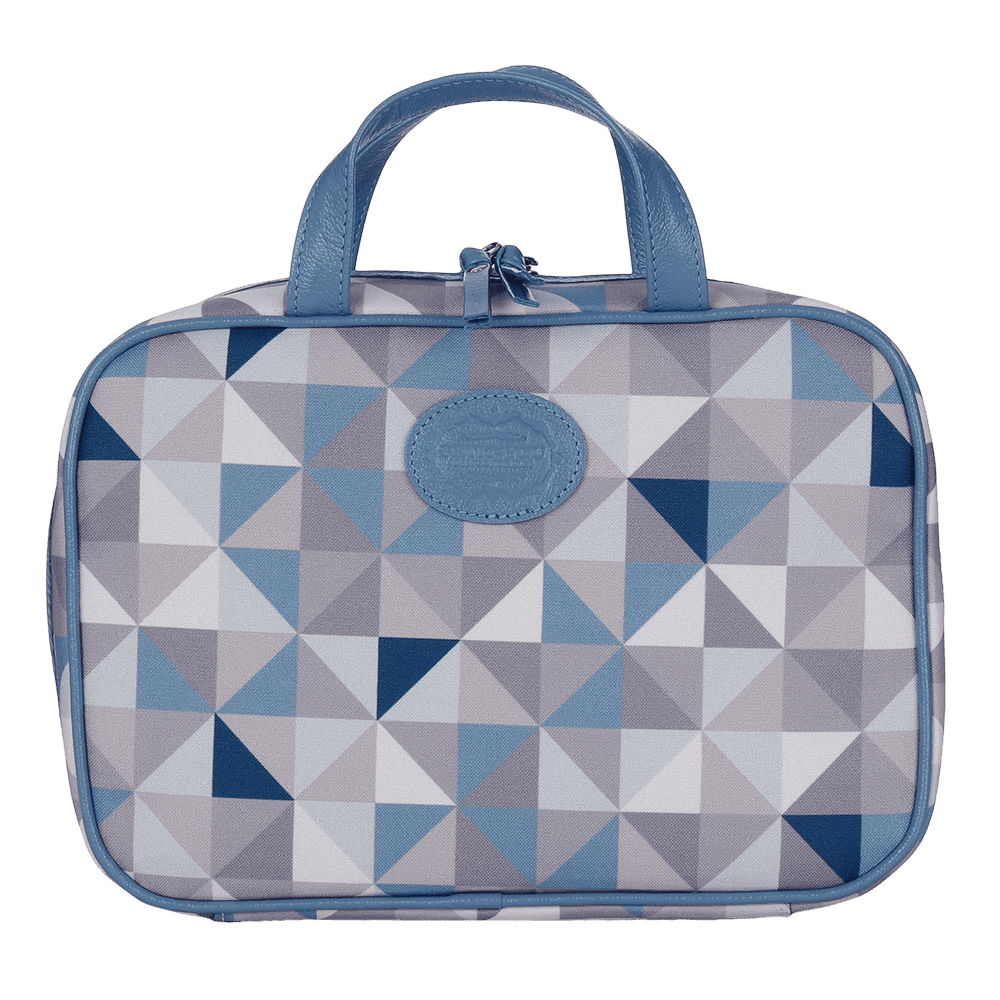 Necessaire M Geometric Azul