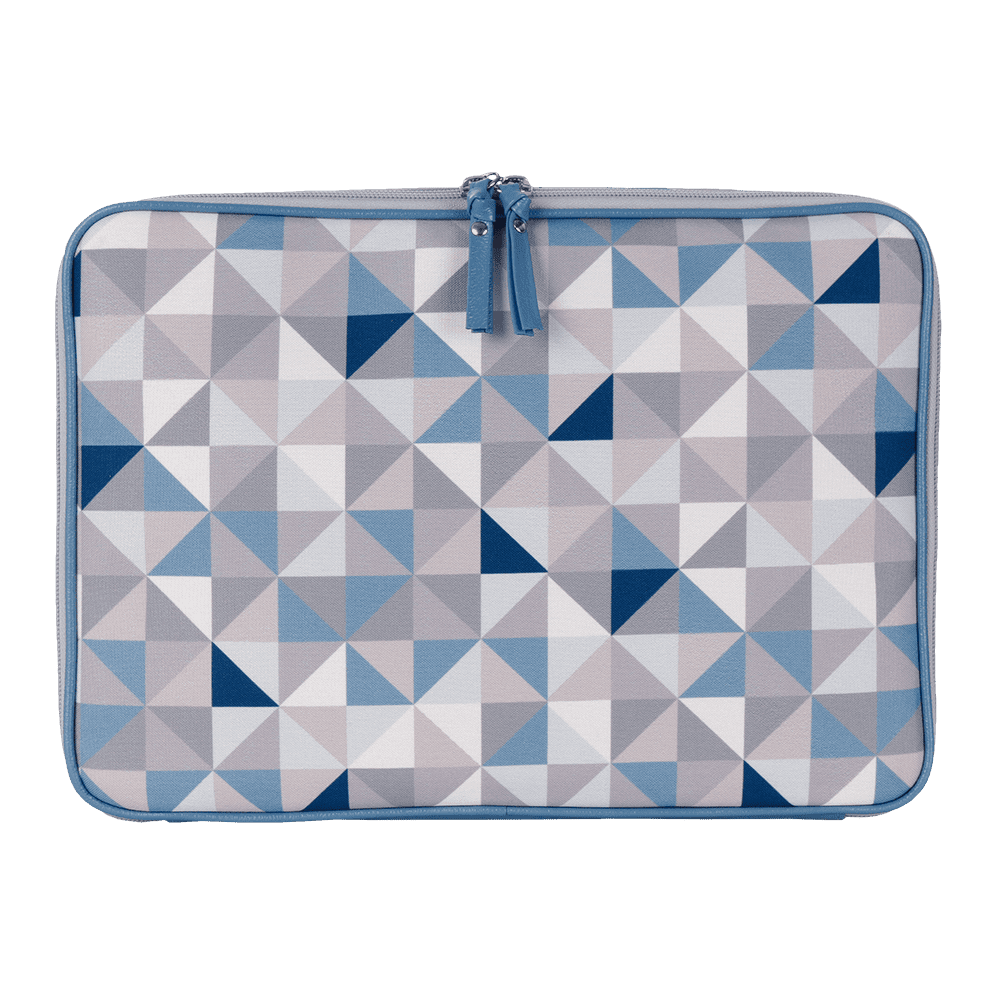 Pasta notebook geometric azul